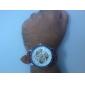 Hombre Reloj de Pulsera El reloj mecánico Cuerda Automática Huecograbado PU Banda De Lujo Marrón Marrón