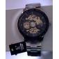 Мужской Наручные часы Механические часы С гравировкой С автоподзаводом Нержавеющая сталь Группа Люкс Серебристый металл