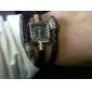 아가씨들 패션 시계 팔찌 시계 석영 밴드 보헤미안 블랙