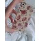Stylish Flower Hard Case for iPhone4G (White)