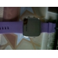 Светодиодные часы с силиконовым ремешком (фиолетовые)