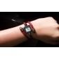Femme Bracelet de Montre Montre Décontractée Quartz Bande rétro Rouge Rouge