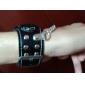 motif de crâne du poignet pu regarder avec la chaîne