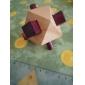 Wooden Lock Puzzle Toy Torpedo IQ Puzzle Magic Cube