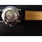 Hommes Montre Bracelet Remontage automatique Gravure ajourée Polyuréthane Bande Noir Marque
