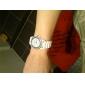 Femme Montre Tendance Montre Bracelet Montre Décontractée Quartz Montre Décontractée Imitation de diamant Silikon Bande Etincelant Noir
