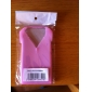 Cool Clothes Soft Silicone Case for iPhone 4 (Pink)