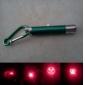 5 en 1 1mw 650nm pointeur laser rouge projective avec 2 * LED verte et porte-clés