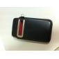 puce étui en cuir pour la poche callid 4/3g/3gs iphone