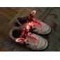 Flash crescer vara luz vermelha impermeável LED cadarço (1 par)
