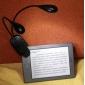 dubbel arm 4-LED vitt ljus flexibla stället bok laptop bordslampa (3xAAA)