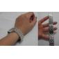 Homens Mulheres Relógio de Moda Digital LED Calendário Aço Inoxidável Banda Prata