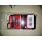 protetora caso abs duro para iphone 4 e (autocarro vermelho) 4s