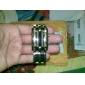 Homme Montre Bracelet Unique Creative Montre Numérique Calendrier LED Acier Inoxydable Bande Argent