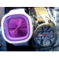 Unisex Jelly Purple Dial White Silicone Band Quartz Analog Wrist Watch
