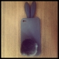 Rabbit Protective Silicon Case For iPhone 4 Gray