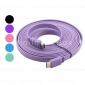 5M 15FT Flat HDMI Cable V1.4 1080p Ethernet 3D - Assorted Colors