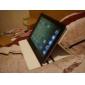 padrão de capa de couro pu-leão elegante com suporte para iPad 2/3/4 (cores sortidas)