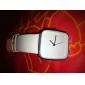 여성을위한 패션 PU 밴드 석영 손목 시계 (흰색)