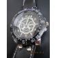 남자의 PU 아날로그 석영 캐주얼 손목 시계 (블랙)