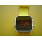 Relógio Unissexo em Silicone (Amarelo)