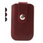 capa de couro protetora virar pu com fivela para iphone 4, 4s, 3g, 3gs