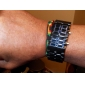 Men's Watch Faceless Watch Blue LED Lava Style Digital Plastic Band  Wrist Watch Cool Watch Unique Watch Fashion Watch