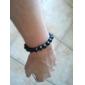 мужской 10mm натуральный черный агат браслет (bgem54s10)