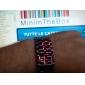 여성용 패션 시계 스포츠 시계 석영 LED 스테인레스 스틸 밴드 블랙