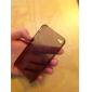iphone4 반투명 검정을위한 얇은 소프트 다시 커버