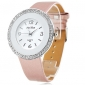Women's Silver Crystal Case PU Band Quartz Wrist Watch (Assorted Colors) Cool Watches Unique Watches