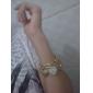 하트모양 케이스가있는 여성용 아날로그 쿼츠 팔찌시계 (골드)
