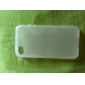 protection étui transparent souple pour iphone4 (blanc)