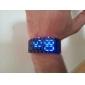 Herrn Armbanduhr digital Kalender LED Plastic Band Schwarz