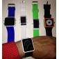 Спортивные часы с красными светодиодами и белым ремешком