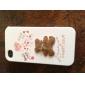 Case de Corpo Completo para iPhone 4 / 4S - Ursinho da Sorte Marrom