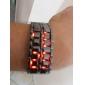 Hommes Montre Bracelet Numérique LED Calendrier Acier Inoxydable Bande Noir