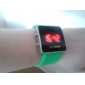 Silicone Band Women Men Unisex Jelly Sport Style Square LED Wrist Watch - Green Cool Watch Unique Watch
