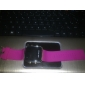 Unisex Red LED Digital Square Case Pink Silicone Band Wrist Watch
