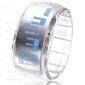 Relógio LED Futurista - Transparente Branco