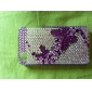 Protective Crystal Hard Case for iPhone 4 / 4S (Purple Butterfly)