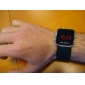 Men's Watch Red LED Digital Square Dial Silicone Strap Wrist Watch Cool Watch Unique Watch