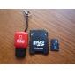 4GB micro SD / TF carte mémoire SDHC avec Lecteur USB microSD et un adaptateur microSD (classe 4)