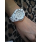 Montre à Quartz Style Japonais, Bracelet en Plastique (Blanc)