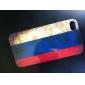 아이폰 4와 4S를위한 빈티지 스타일 러시아어 플래그 패턴 하드 케이스