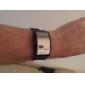 Светодиодные спортивные часы унисекс с черным силиконовым ремешком