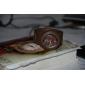geléia de borracha de silicone relógio de pulso de quartzo para mulheres (marrom)