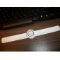 Silicone Band Fashiona Women Casual Jelly Clap Watch - White