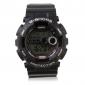 남자의 시계는 디지털 다기능 실리콘 스트랩 스포츠