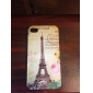 Etui Rigide Motif Tour Eiffel pour iPhone 4/4S - Multicolore